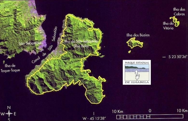 Map Ilhabela State Park