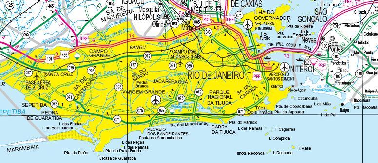 Road Map Rio De Janeiro - Rio de janeiro map