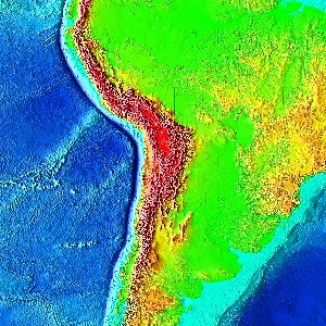 Topography relief brazil